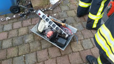 Elektrobrand in Werkstatt