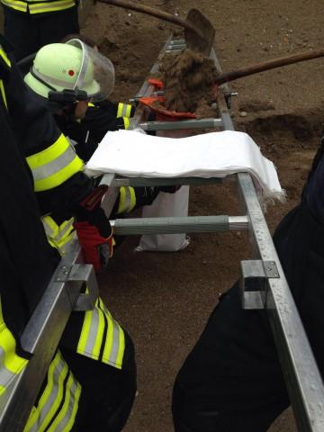 Unwetter in Heidenrod: Sicherung eines Wohnhauses