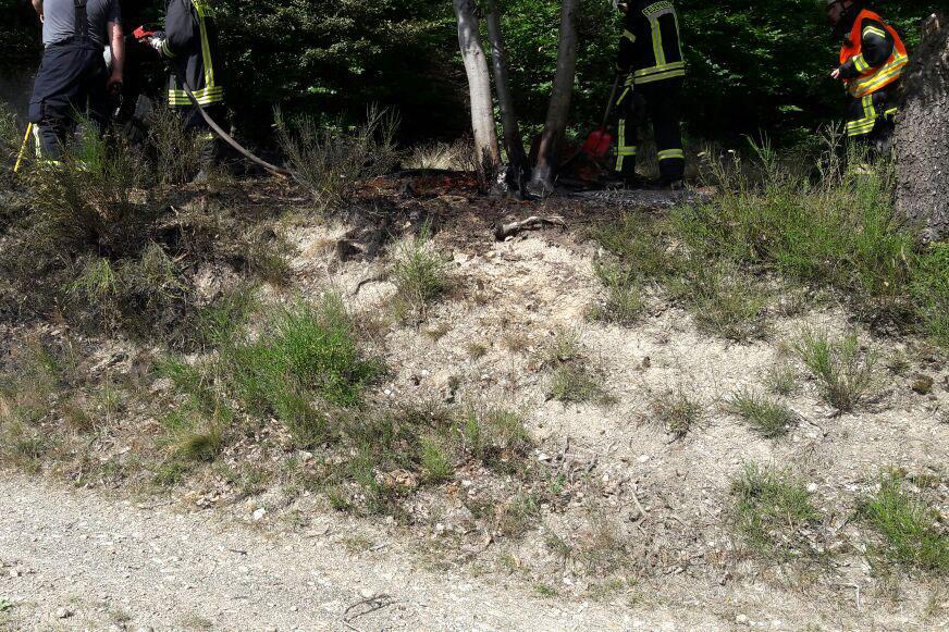 Kleiner Brand in Huppert