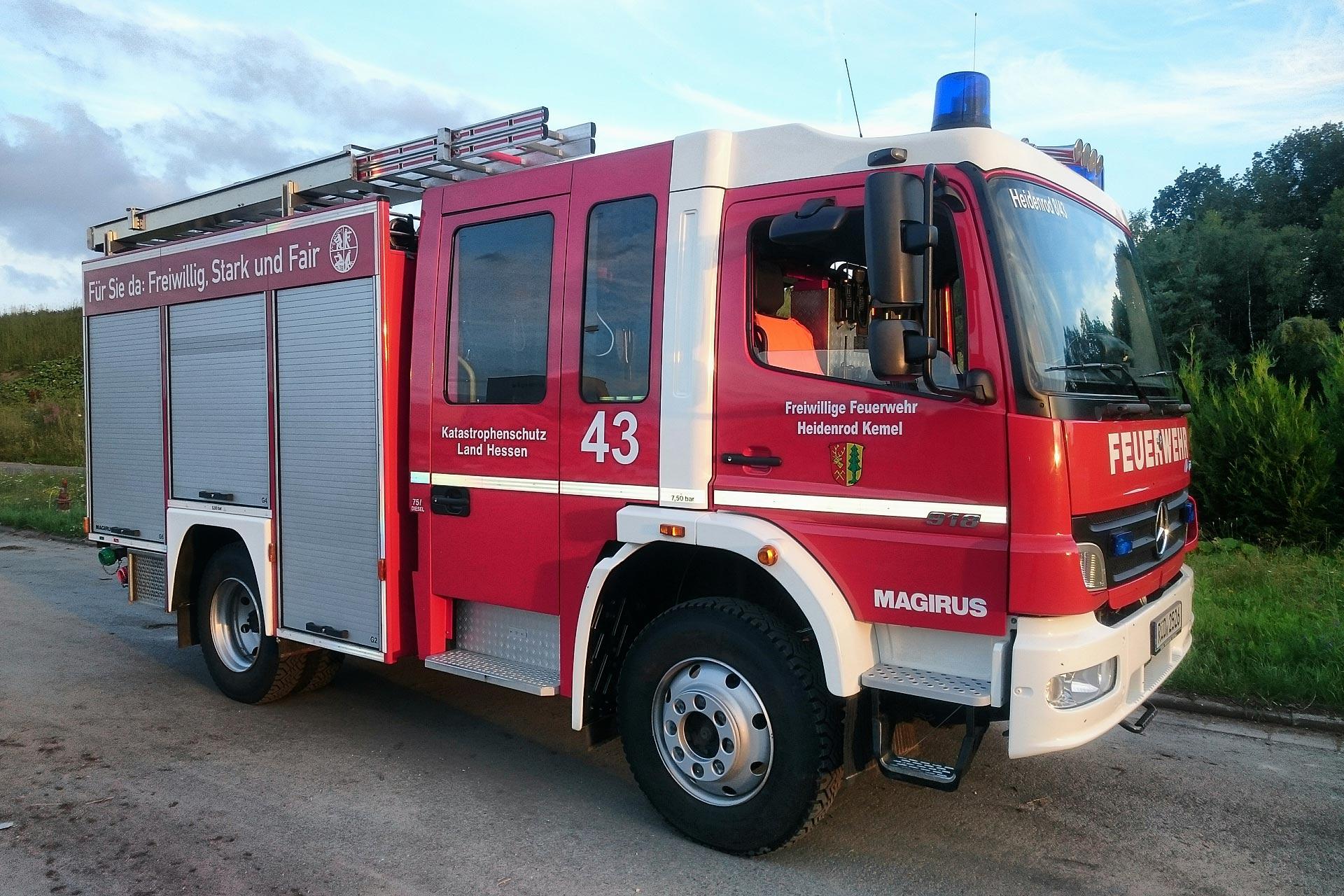 Feuerwehr Kemel erhält das LF 10 aus Zorn - Tragkraftspritzen-fahrzeug wird nach 27 Jahren ausgemustert