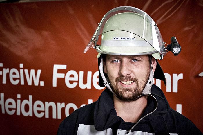 Kai Rossel ist jetzt Sanitäter der Feuerwehr