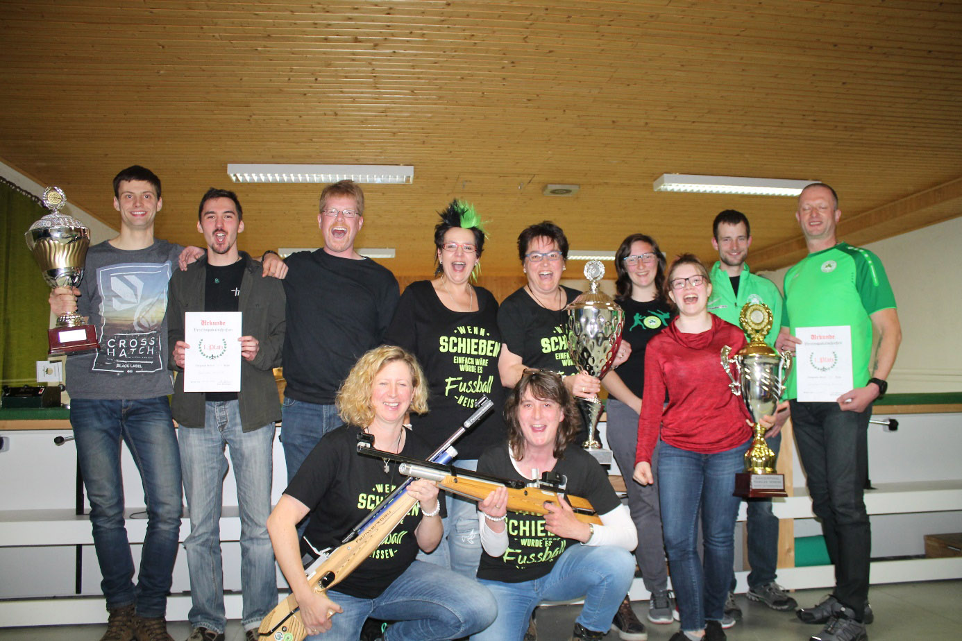 Feuerwehr Kemel gewinnt erneut den Mannschaftspokal beim Vereinspokalschießen der Kemeler Vereine