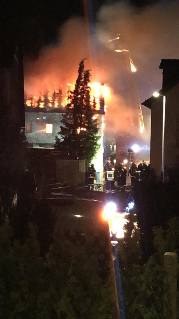 Gebäudebrand in Dickschied
